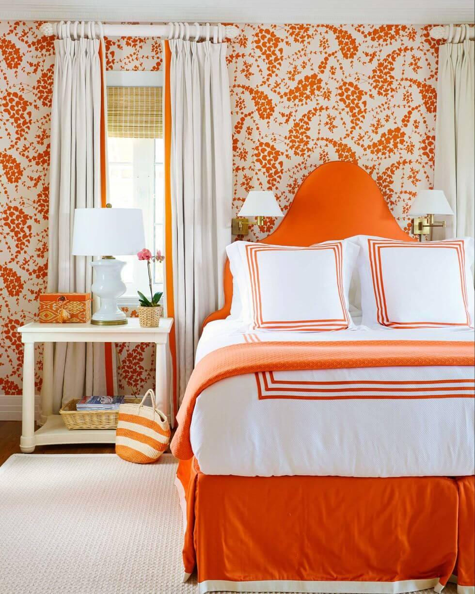 ярко оранжевый цвет